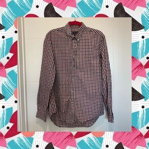ZARA Shirt Plaid Red Blue White